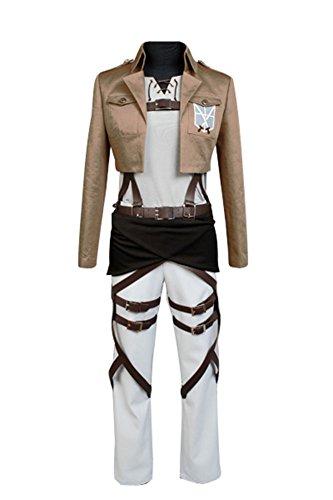 jeylu Shingeki no Kyojin Attack on Titan Eren Jaeger Cosplay Kostüm EU Größe Gr. Large, braun (Attack On Titan Kostüm Für Kinder)