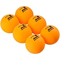 Donier Pelotas de Ping Pong de 3 Estrellas | Set de 6 Pelotas de Tenis de Mesa de Competición con Tamaño Reglamentario de 40 mm para Partidos de la ITTF | Para Interior y Exterior | Naranja, Blanco (Naranja)