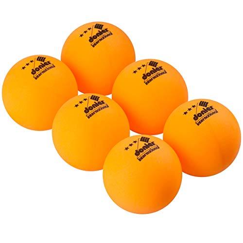 Donier 3-Sterne Tischtennisbälle 6 Ping Pong Bälle, Offizielle 40mm Ballgröße | Für Tischtennis Indoor & Outdoor | Ping Pong Ball Set für ITTF Spiele | Gelb, Weiß (Gelb)