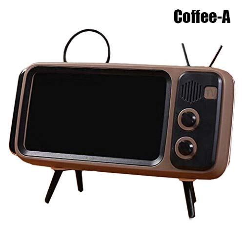 Syfinee Retro TV Bluetooth Wireless Speaker Phone Holder Mobile Phone Screen Stand Wireless Portable Audio Speakers