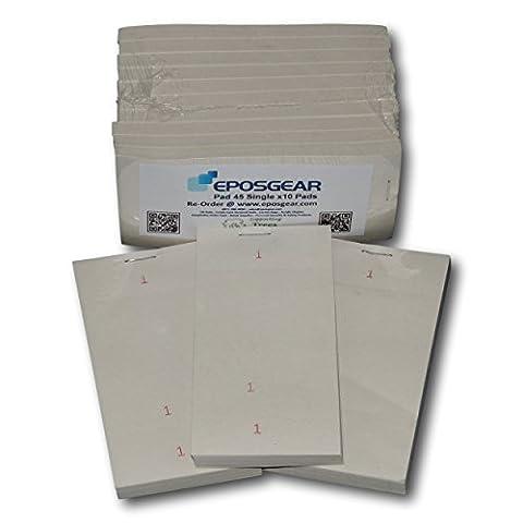 EPOSGEAR 10 Pack Single Copy Tear-Off Slip Restaurant Cafe Takeaway Pub Food Waiter Waitress Numbered Order Pads - 62mm x