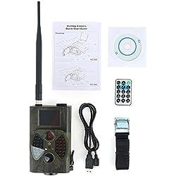 junchuang Caméra de Chasse étanche 1080p avec capteurs infrarouges, EK3KV5S39H26IG40FN17T, HC-300M 12Ã-7Ã-3cm HD