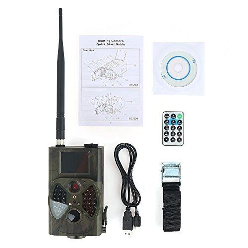 Flyelf Jagdkamera Jagdzeug Wildkamera HD LCD Überwachungskamera 940nm Scout Infrarot 12MP GSM