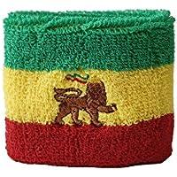 Flaggenfritze/® Tischflagge /Äthiopien ohne Wappen Rasta mit lackiertem Holzsockel