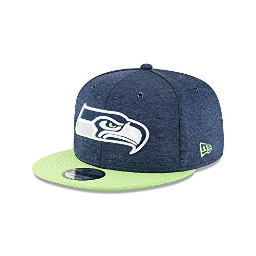 New Era NFL Seattle Seahawks Authentic 2018 Sideline 9FIFTY Snapback Home Cap, Größe :M/L