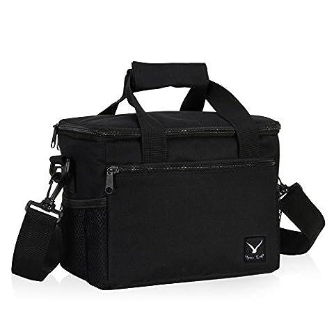 Veevan 7 Liter Isolierte Kühltasche Kühlbox Lunch Bag Mittagessen Tasche für 1 Person Schwarz