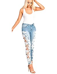 Women's Ladies Skinny Lace Jeans