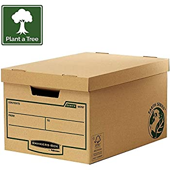 Q-Connect Green and White Business Storage Box 335x400x250mm KF2166 Pack of 10
