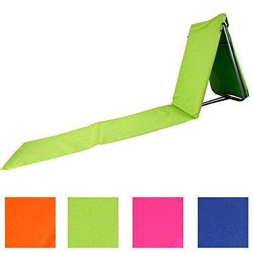"""Faltbare Strandliege mit Lehne und Tasche in 4 sommerlichen Farben Modell """"RELAX"""" (Grün)"""