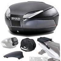 SHAD - KIT-SHAD-1689/214 : Kit fijacion y maleta baul trasero gris oscuro + respaldo + bolsa + tapa SH48 BMW F800 S / R ´09