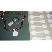 150 White Circular etiquetas de Precio/Precio de Joyería/plumón etiquetas en forma pegatinas