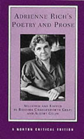 adrienne rich if not with others how Adrienne rich and aunt jennifer's tigers aunt jennifer's tigers is a poem about an oppressed woman who escapes into an alternative world of embroidery and sewing, despite a heavy marriage to a terrifying man.
