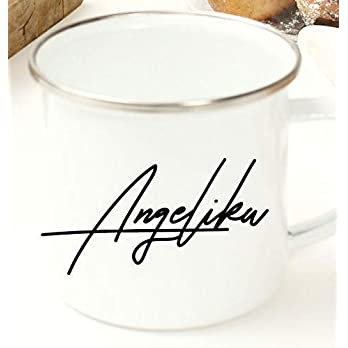 Geschenk Beste Freundin/Emaille Tasse mit Name/Geschenk für Freundin/Beste Freundin Geschenk persönlich/Geburtstagsgeschenk für Frauen