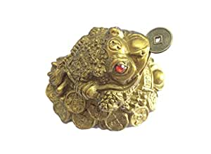 Discount4product Feng Sui Three Leg Frog For good Luck Good Fortune
