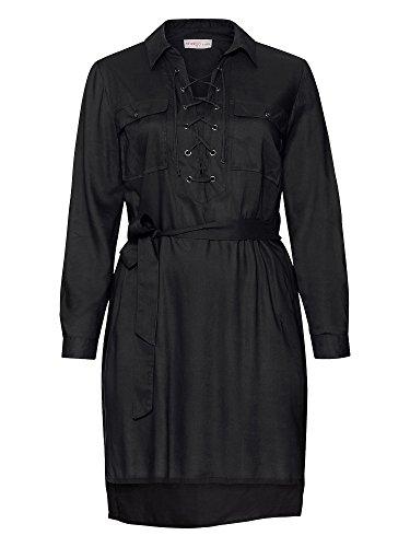 sheego Casual Femmes Tunique longue Grandes tailles Noir