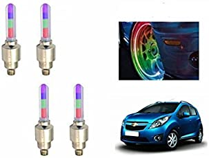 Motoway Multicolor Tyre Led Motion Sensor RGB Set of 4 for Hyundai I-20 Sports