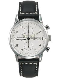 Zeno Watch Basel Magellano Chronograph 6069BVD-e2 - Reloj cronógrafo de caballero automático con correa de piel negra