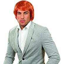 Peluca Evie para niñas. Fun Shack Costume Disfraz, Mens Ginger Boy Band Wig Talla única Mens