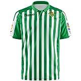 57366df3f Real Betis - Temporada 2019/2020 - Kappa - Official Jersey Home Camiseta de  equipación, Hombre, Neutro, L