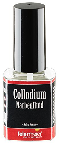 listische Narben - feiermeier® Collodium / Collodion 11ml Pinselflasche - Halloween Horror Schminke MakeUp (Hand Halloween-make-up)