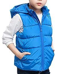 a4b502fe1dca Zhhlaixing Piumino Ragazzo Gilet Veste Removibile Cappuccio - Puffer Jacket  Trapuntato Giacca Packable Senza Maniche Panciotto