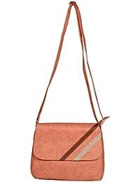 LadyBugBag Fashionable Women's Sling Bag For Girls/Womens( Peach, LBB10304 )
