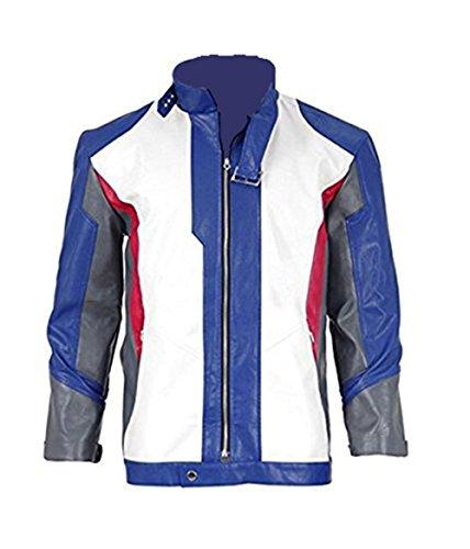 Herren Leder Jacke Soldat Cosplay Kostüm (M, Mehrfarbig Jacke) (Leder Jacke Herren Kostüm)