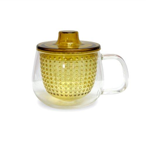 Kinto UniMug Tasse mit Teefilter 350 ml gelb