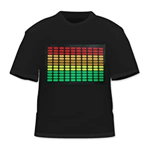 HDE Equalizer Sound Activated LED T-Shirt (M)