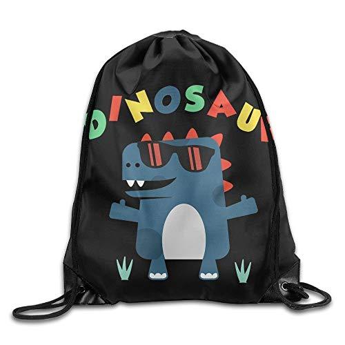 ewtretr Turnbeutel, Sunglasses Dinosaur Ladies Drawstring Bags Bundle Pack Shoulder Bags