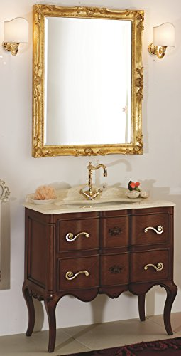 Mobile da bagno classico in legno massello arredobagno di manifattura italiana