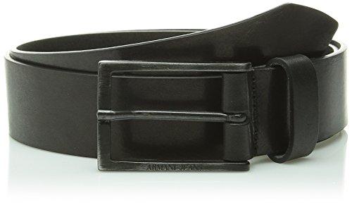 Armani Jeans cintura uomo vera pelle nuova originale vintage nero EU 90 B6173 J2 12