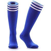 Samson Hosiery® - Chaussettes montantes de football / hockey / rugby à rayures au genou - Unisexe