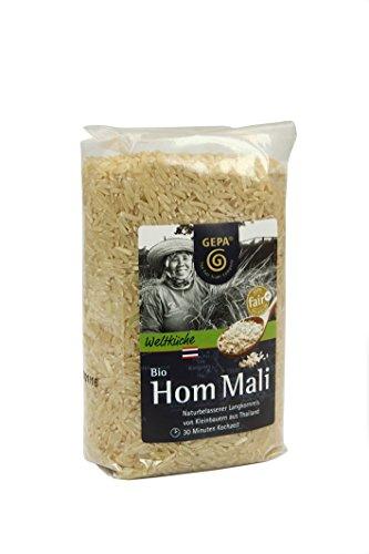 GEPA Hom Mali 'Jasminreis', Vollwertreis, 4er Pack (4 x 500 g Packung) - Bio