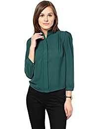 Remanika Green color Wooven Top for womens