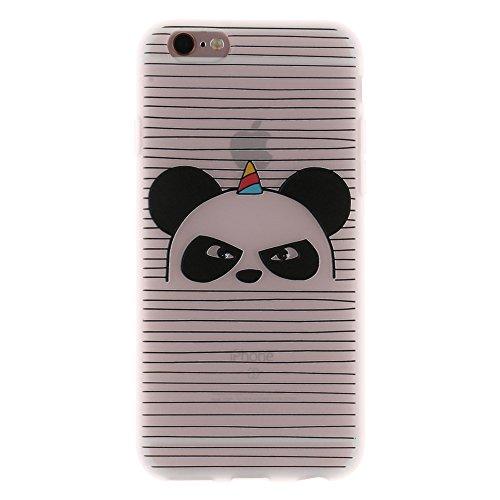 """MOONCASE iPhone 6 Plus/iPhone 6s Plus Coque, [3D Relief Style] Étui Housse Slim Fit Résilient TPU Anti-rayures Anti-choc Protection Case pour iPhone 6 Plus/iPhone 6s Plus 5.5"""" Tiger Panda"""