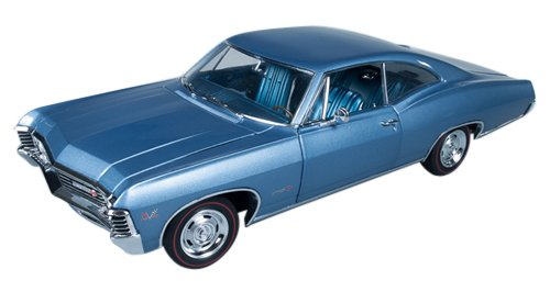 american-muscle-1-18-chevrolet-impala-ss-1967-blue-by-kyosho