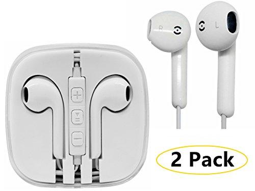 Kopfhörer Jiayou in-Ear Ohrhörer für iPhone 4 4s 5 5s 5c 5s 6 6plus 6s 6s Plus iPad iPod MacBook mit Fernbedienung und Mikrofon (Apple Edition 2 Stück)