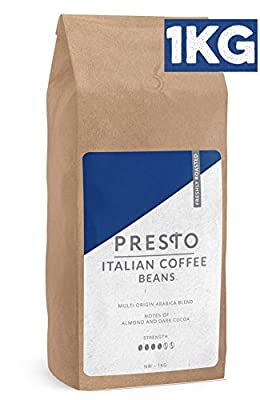 Presto Artisan Coffee Beans - 100% Arabica Beans Sourced from South American - Rich & Full-Bodied Medium Roast Whole Bean Coffee - Perfect for Any Coffee Brewer or Aeropress (1KG Bag) from Presto Coffee