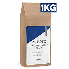 Coffee Beans – Espresso Coffee – Medium Roast Whole Bean Coffee – Coffee Machine – Aeropress – Filter and Ground Coffee (Coffee Beans 1KG)