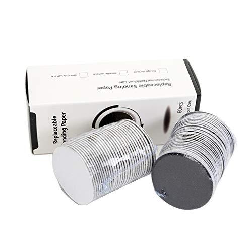 Decj 1 scatola (60pcs) sostituzione carta vetrata dischi (extra grossolana 80 graniglia) per il piede elettronico file caller remover strumento