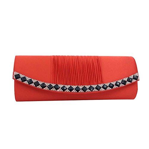 Frauen-Handtaschen-Abend-Beutel-Art-Partei-Beutel-Schulter-Beutel Red