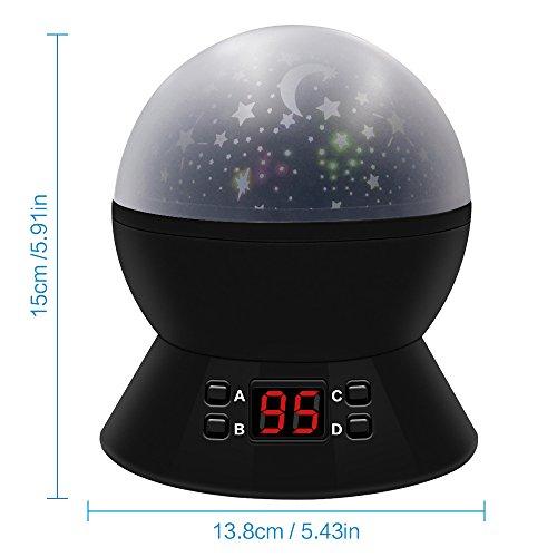 Regalos para Niños Lámparas Infantiles Regalo de Navidad Proyector Estrella 360 Grados de Rotación con 8 Modos de iluminación, LED Timer Auto-Apagado Lámpara de noche Decoración para Dormitorio de Niños, Camping