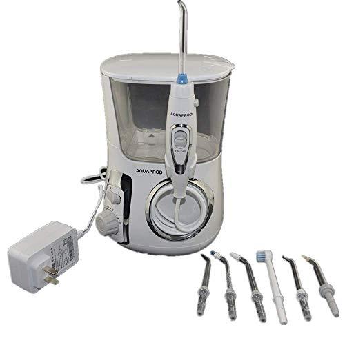 Jackeylove Rote Zahnreiniger Wasserflossmaschine tragbar mit 7 austauschbaren Düsen für die Tiefenreinigung zwischen Zähnen, Zahnfleisch, Zahnspangen und Brücken