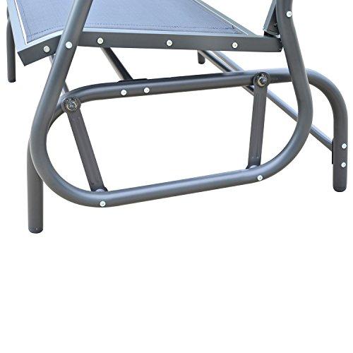 Outsunny Sitzbank, Metall, grau, 123 x 70 x 87 cm, 01-0893 - 6