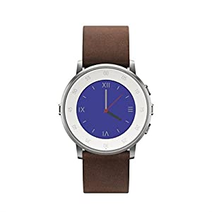 Pebble 601-00050 20 mm Time Round Smartwatch - Silver