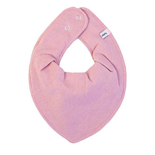 HALSTUCH Baby Dreieckstuch mit Druckknöpfen aus Baumwolle (verschiedene Farben) (Altrosa)