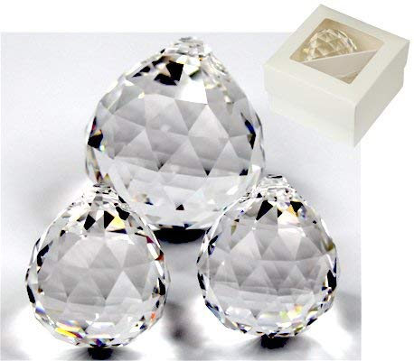 86ad8d0504e706 Rieser® Premium Crystal Ball Set 2x 30mm + 1x 40mm in Gift Box Crystal Glass
