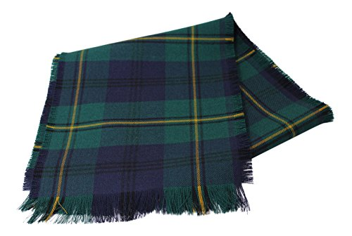 House of Edgar Authentic Tartan 100% Wolle Uni Full Fringed Band - Johnstone Modern - Authentic Wolle