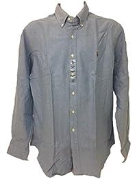 Polo Ralph Lauren hombres de Botón Abajo ajuste personalizado rayas shirt-red/color blanco